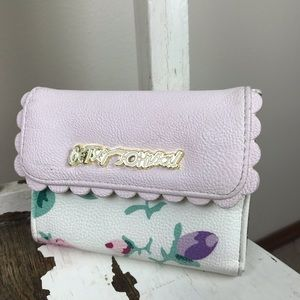 Betsey Johnson Scallop French Wallet Floral